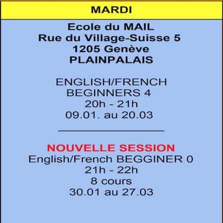 Mardi Ecole MAIL (Plainpalais)