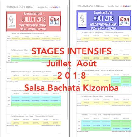 Stage Salsa Bachata Kizomba à Genève Juillet -Août 2018 Tonys Bar