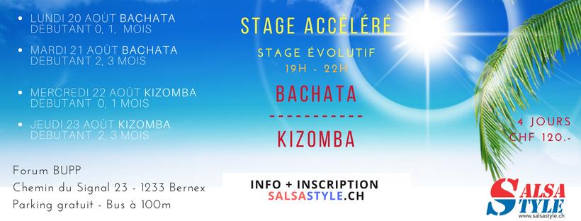 20-23 aout bachata et kizomba à Bernex salsastyle.ch geneve salsa style