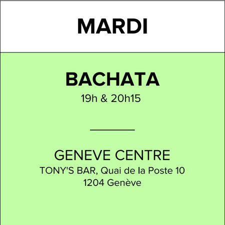 Mardi Tony's Bar (Bachata)