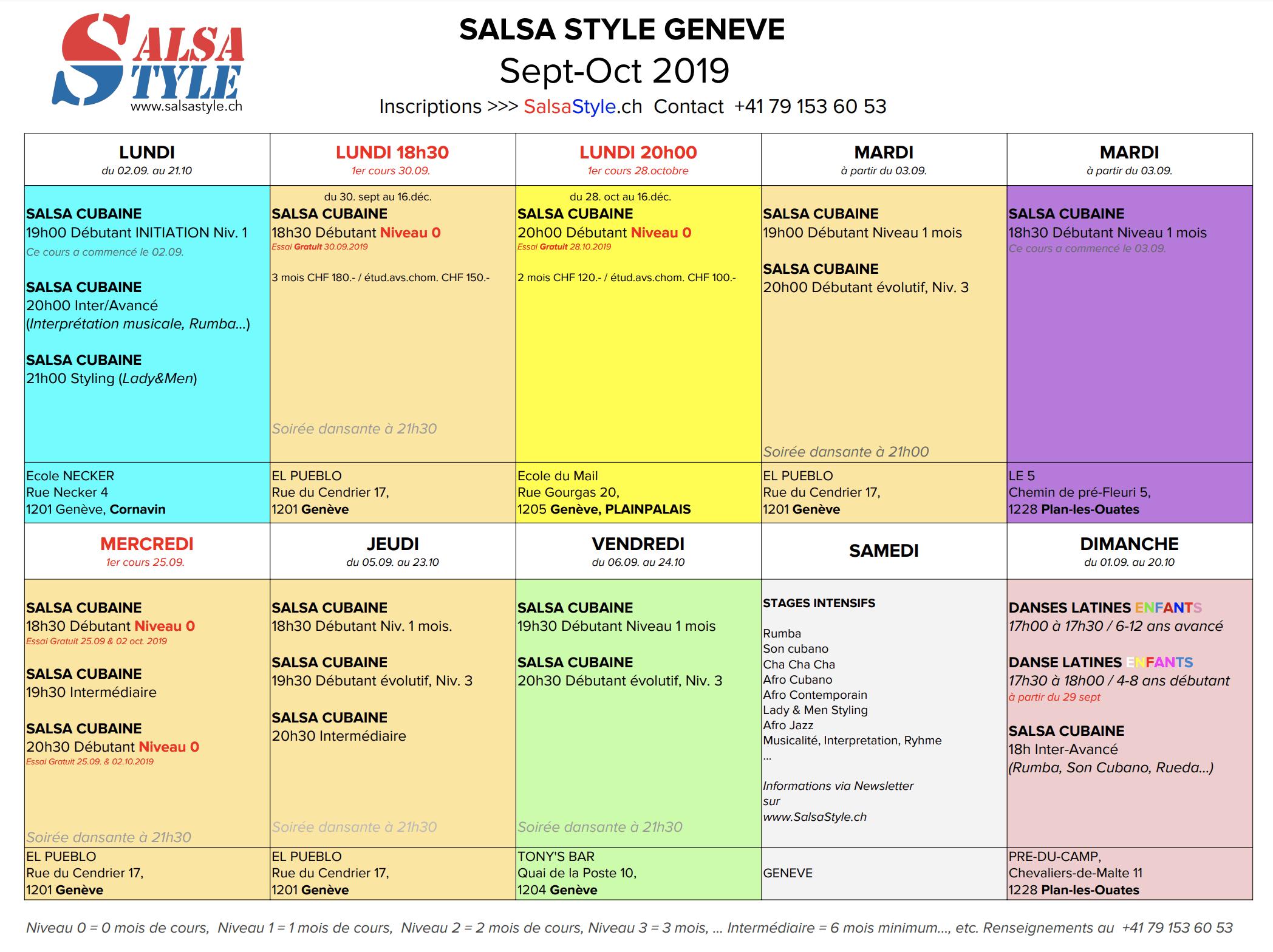 2019 SALSA à Genève salsastyle.ch
