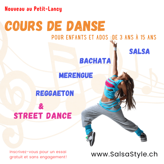 Genève cours danse enfants salsa bachata merengue reggaeton street dance