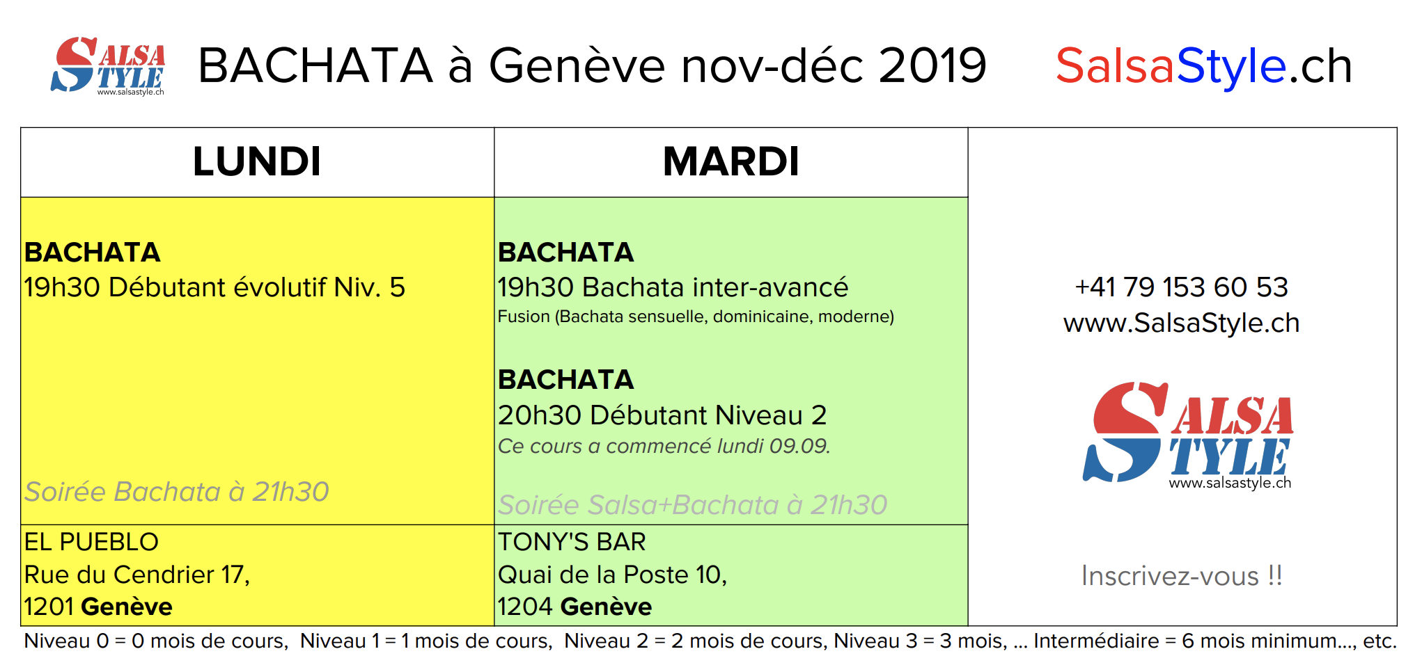 BACHATA GENEVE nov 2019 salsastyle.ch