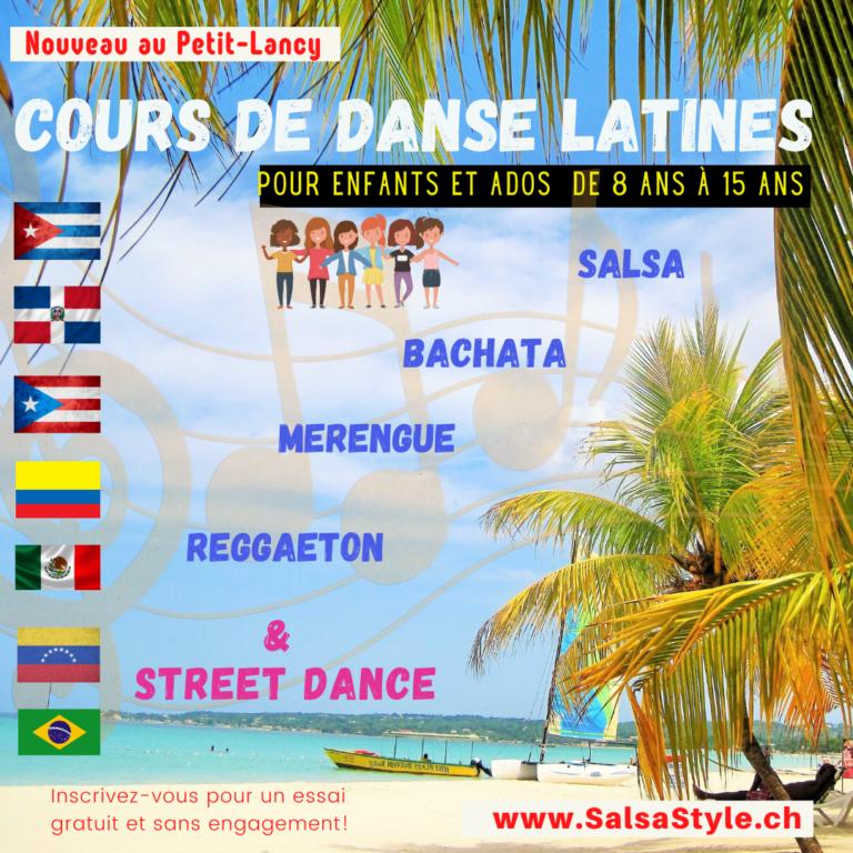 Danses latines enfants 6-12 ans